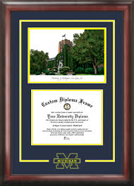 clemson diploma frame of michigan the michigan union lithograph diploma