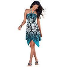 pretty dress tinyhi women s top pretty handkerchief halter dress summer