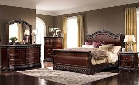mcferran b188 bedroom set of 4 sleigh