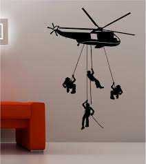 army troops helicopter wall art quote sticker vinyl kids bedroom