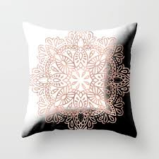 Throw Pillows by Gold Throw Pillows Society6