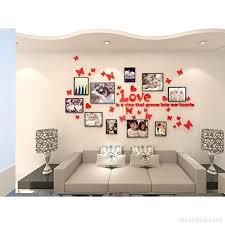 decoration murale chambre alicemall sticker mural cadre photo autocollant mural chambre 3d