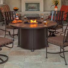 introducing firepit tables a fiery gorgeous outdoor dining table with pit with santorini 54