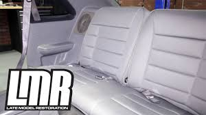 fox mustang seats how to install 1979 1993 mustang corbeau rear seat upholstery