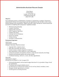resume format for administration elegant administrative assistant objective resume sample