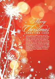 merry christmas greeting card vector illustration free vector in