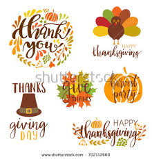 vector collection autumn elements typography lettering stock
