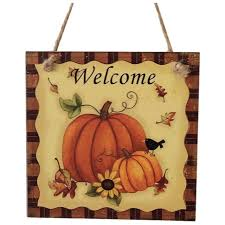 SDFC Wooden Hanging Plaque Sign Thanksgiving Door Hanger Wall
