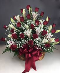 flower delivery dallas 2 dz roses w stargazers basket flower delivery dallas tx