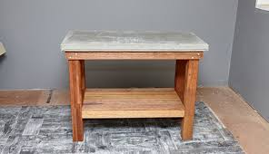 d i y wood and concrete kitchen island bunnings warehouse