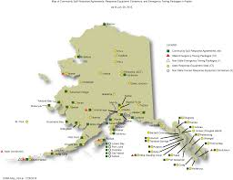 Alaska State Map by Local Response Agreements Conex Inventories