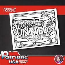 united we stand free coloring page u2013 heidi babin