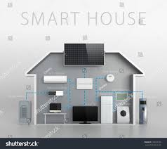 smart house concept text description stock illustration 104109194