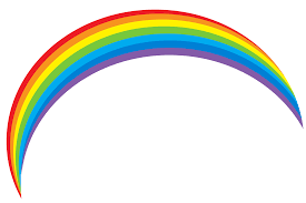 black and white rainbow outline free clipart images 2 clipartcow