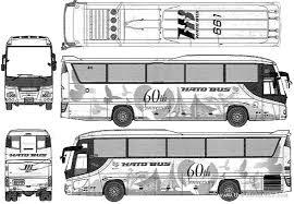 isuzu gala hi decker bus blueprints free outlines