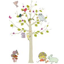 stickers repositionnables chambre bébé sticker mural enfant woodland 110 cm mimi lou stickers