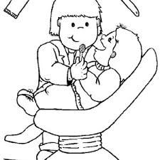 dentist and little boy coloring pages dentist and little boy