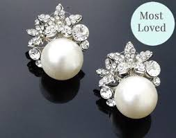 clip on earrings dublin vintage style pearl stud earrings carrie jules bridal