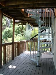stair gorgeous home exterior design ideas using red iron deck