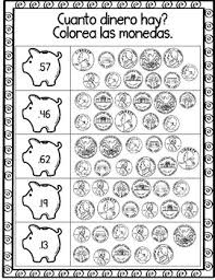 contando dinero spanish counting money worksheets by bilingual
