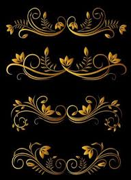 golden luxury ornaments vectors graphic 02 vector ornament free