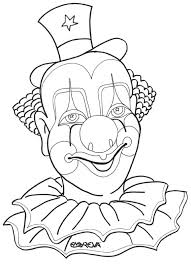 clown coloring pages adults clown coloring funny clown