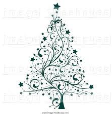 christmas tree swirl clipart china cps