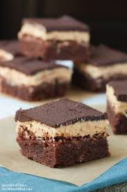 chocolate peanut butter triple layer brownies oh sweet basil