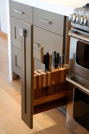 Knives For Kitchen Use Kitchen Design Idea Include A Built In Knife Block Contemporist