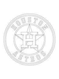 houston astros logo coloring free printable coloring pages