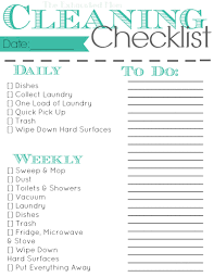 cleaning checklist to keep you sane the exhausted mom