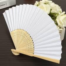 held paper fans simple blank diy paper folding fan wedding party folding fans
