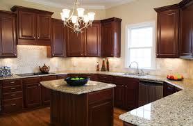 Espresso Cabinets With Black Appliances Kitchen Impressive Kitchen Yellow Walls Dark Cabinets Unique