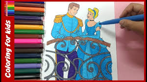 coloring pages cinderella and prince charming how to color