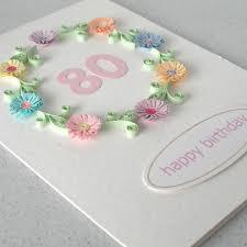 80th birthday card folksy