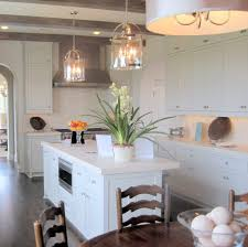 amazing kitchen double glass pendant lights over white island