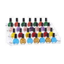 5 layers acrylic nail polish rack tabletop stand holder cosmetics