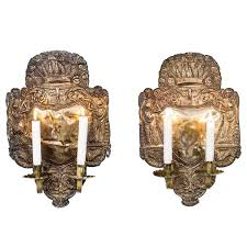 Wall Sconce Art Deco Art Deco Wall Sconces Pair Of Antique 1920s 1930s With Crackle F45