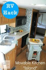 Movable Island For Kitchen Rv Hack For More Counter Space Get A Movable Kitchen Island