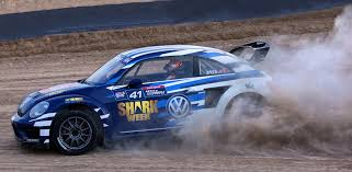 volkswagen beetle race car scott speed gears up for new season of grc with shark week themed