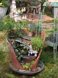 the 25 best broken pot garden ideas on pinterest fairy garden