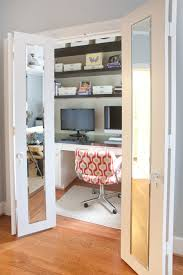 computer room closet ideas with upholstered swivel chair on grey