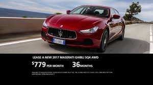 maserati ghibli red 2017 lease a 2017 maserati ghibli sq4 for 779 per month youtube