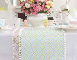 paper table runner diy easy craft project happy happy nester