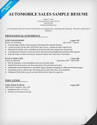 job resume sles for high students automobile sales resume sle resume sles across all