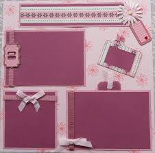 premade scrapbooks diy pre made baby girl scrapbook page layouts esther s creative