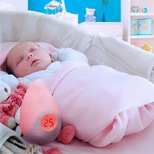 thermomètre mural chambre bébé signstek le veilleuse led couleurs changeantes avec thermomètre