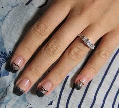 easy black lace nail design