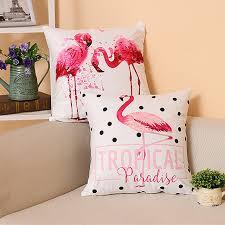 flamant canap flamant taie d oreiller décor à la maison supersoft velours