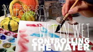 how to use watercolor controlling the water part 2 youtube